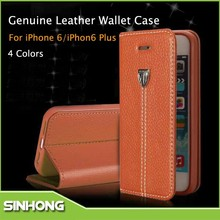 Luxury Mobile Phone Cover Flip Down Leather Case For iPhone 6