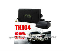 Real-time Tracking Quad Band TK104 GSM/GPRS/GPS Car Vehicle Tracker, Waterproof, Built-in 6000MA Battery - 60 Days Long Standby