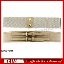 High Fashion Ladies Obi Belt,Fancy Elastic Twin Buckled Wide Belts,SP30750