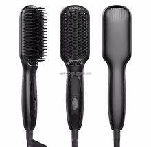 Create Your Own Brand Beauty Salon Equipment High Quality Hairstyler Brush Straightening Comb TOP 10 Electric Hair Straightener