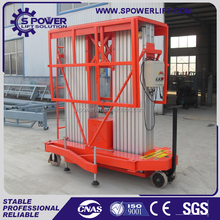 6-10m 200kg double masts cheap aluminum home elevator/portable man lifts/man lift crane