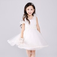 Latest kids dress designs wedding dress baby girls party dress for flower girls S1545