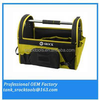 TOOL BAG WITH PVC BOTTOM POLYESTER STEEL HANDLE HOT