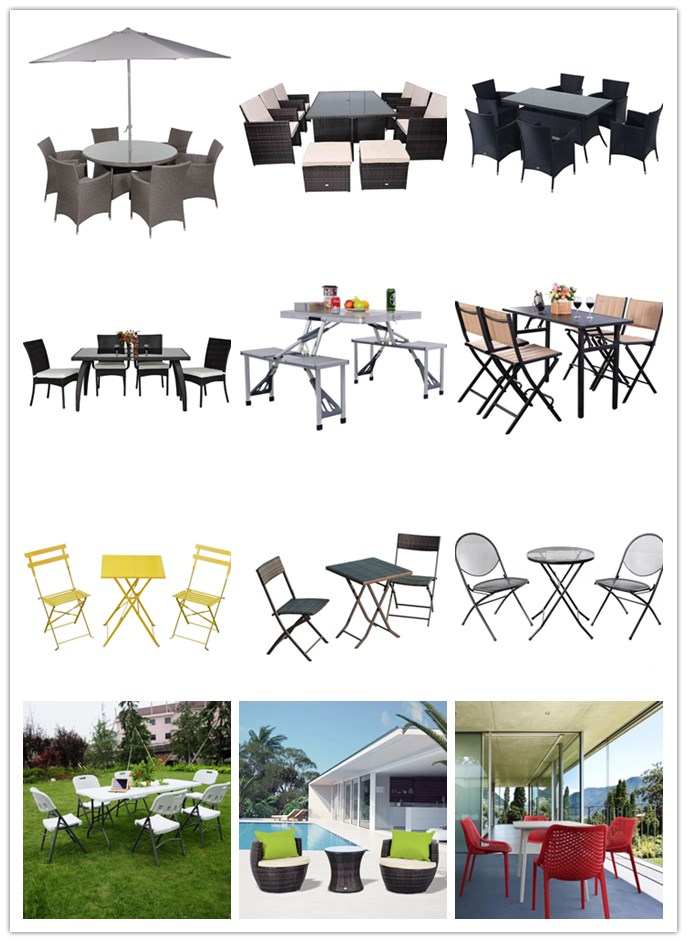 Outdoor 5 Piece Patio Dining Set metal garden chair