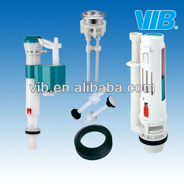 Toilet accessories HIGH QUALITY Toilet tank fittings kit telescopic outlet valve inlet valve drain valve double button