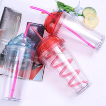 BB008 Food grade straw ice mugs with dome lid coffee beer tumbler