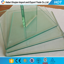 2mm - 19mm clear float glass price m2