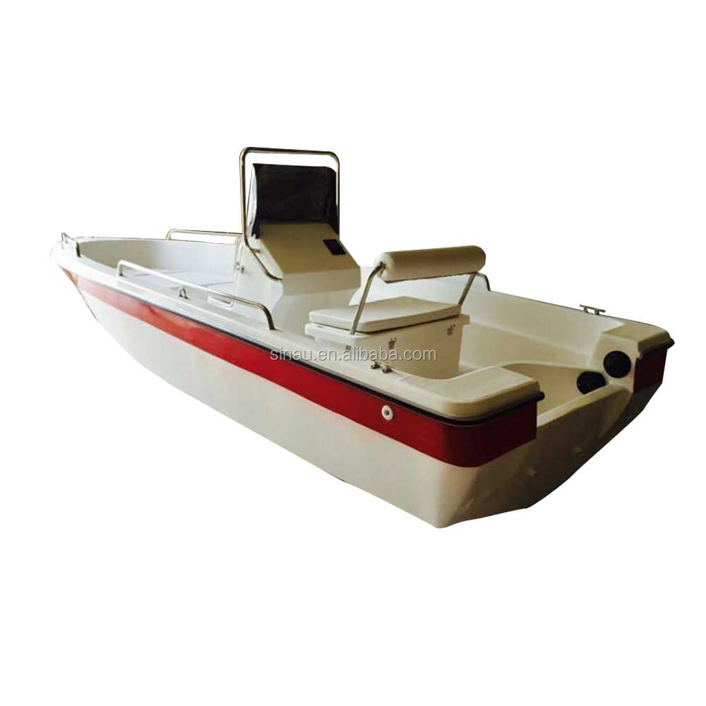 4.8m 16ft outboard engine center console fiber speed boat 8 person sports fishing boat