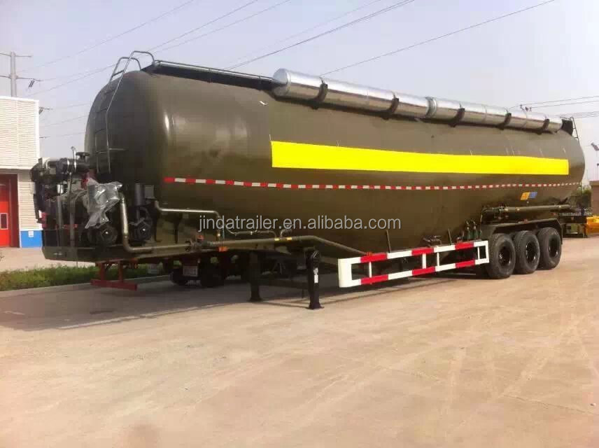 Bulker cement silo tanker trailer , truck powder bulk cement tank semi trailer for sale