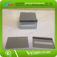 Silver CR80 PVC Blank Cards HiCo MagStripe 2 Track w/ Signature Panel - ID Printer