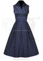 MIKA6006 Women's Wing Collar 50s vintage Dress