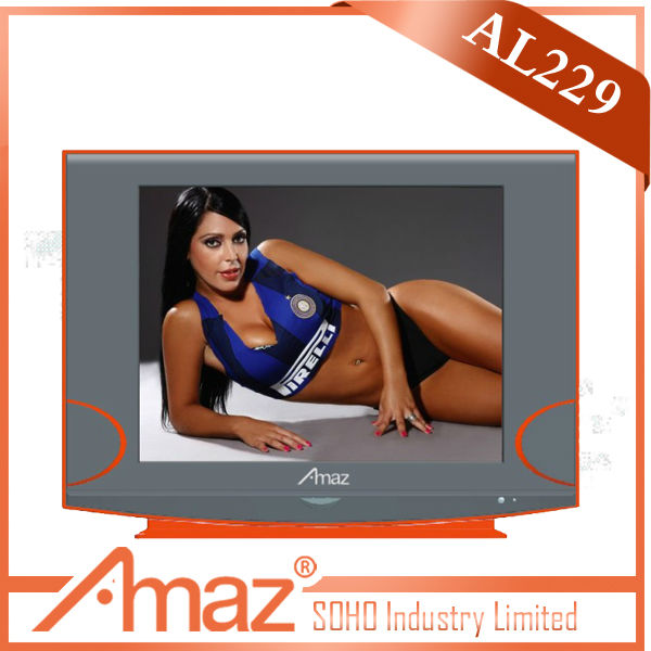 21 inch ultra slim pure flat CRT TV with 512 big speaker