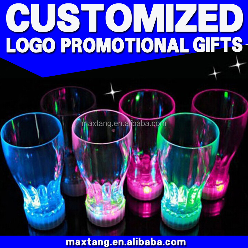 Water Sensor LED Colorful Beer Cup LED Flashing Cup Custom LED Water Cup