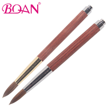 BQAN Delicate Rosewood Handle Nail Art Pure Kolinsky Hair Acrylic <strong>Brush</strong>