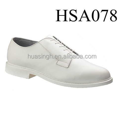 Oxford rubber sole white military uniform deck navy shoes for government