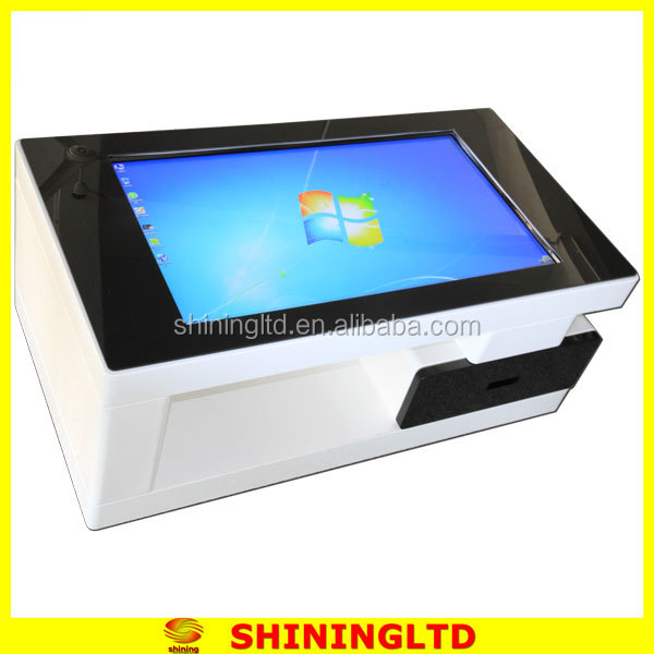 Self service touch screen ads displayer window table interactive screen for business/school