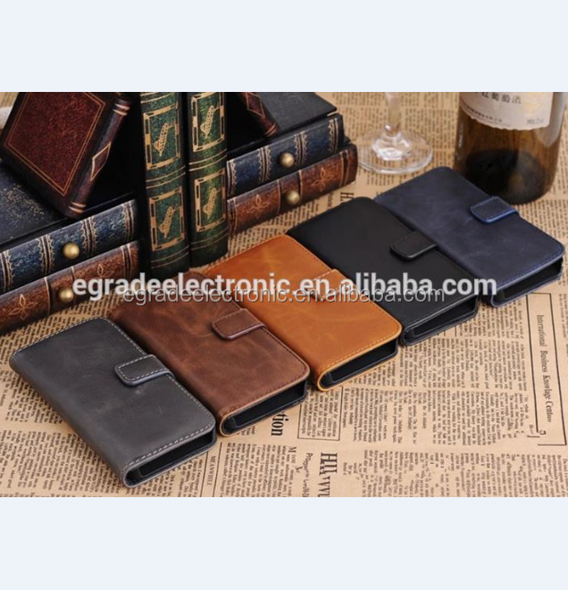 Wholesale Business Leather Case with Card Slot Stand Flip Wallet Leather Case for Samsung S5 I9600