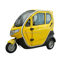 Enclosed cabin adult 3 wheel electric tricycle for passenger