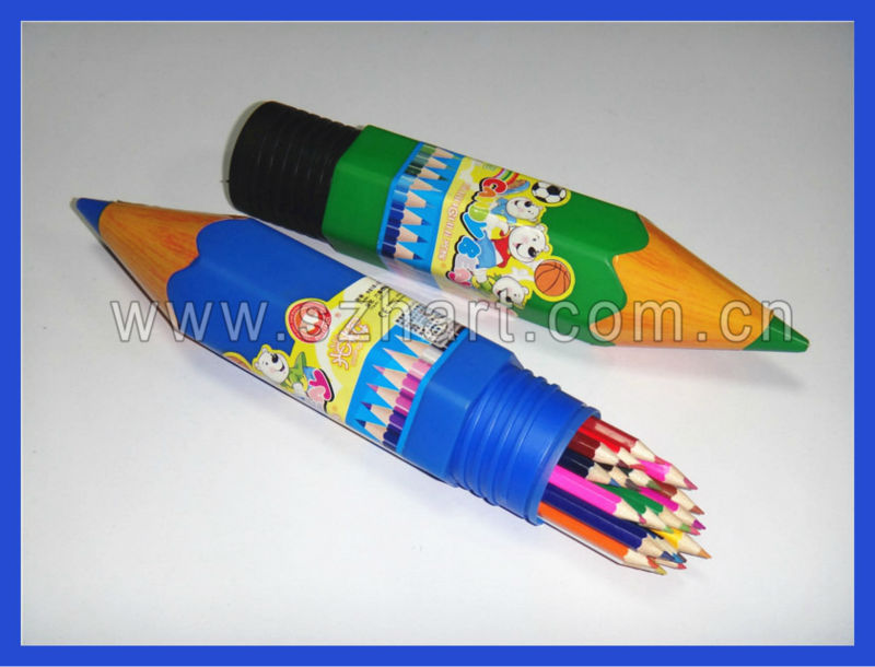 Pencil shaped holder within pencils in bulk