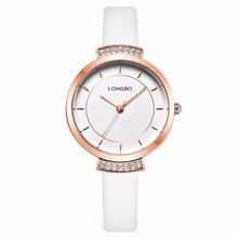 Longbo OEM promotion gift beautiful ladies new style alloy watch korean fashion watches with leather band