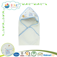 wholesale embroidery pattern baby hooded bath poncho towel