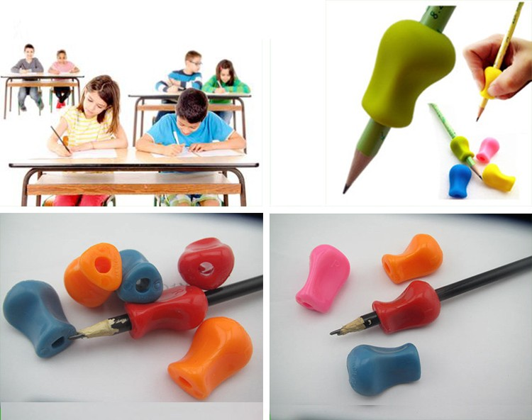 2017 Kids Pencil Holders / Rubber Pencil Grips / Silicone Writing Aid Claw