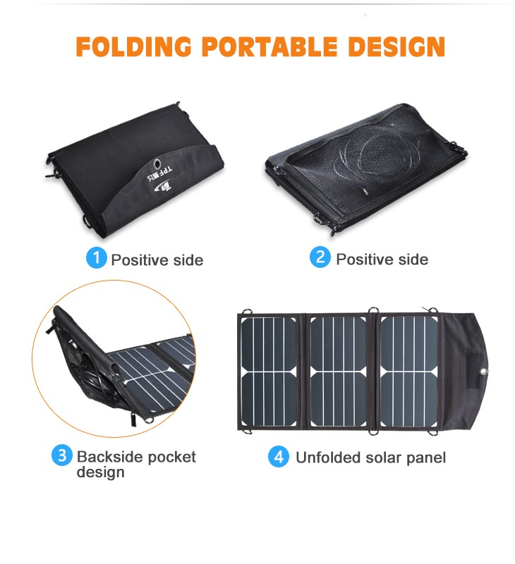 20W small mobile charger use outdoor solar panel