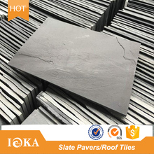 Natural Black Slate Tiles Paving Stones for Roof Garden