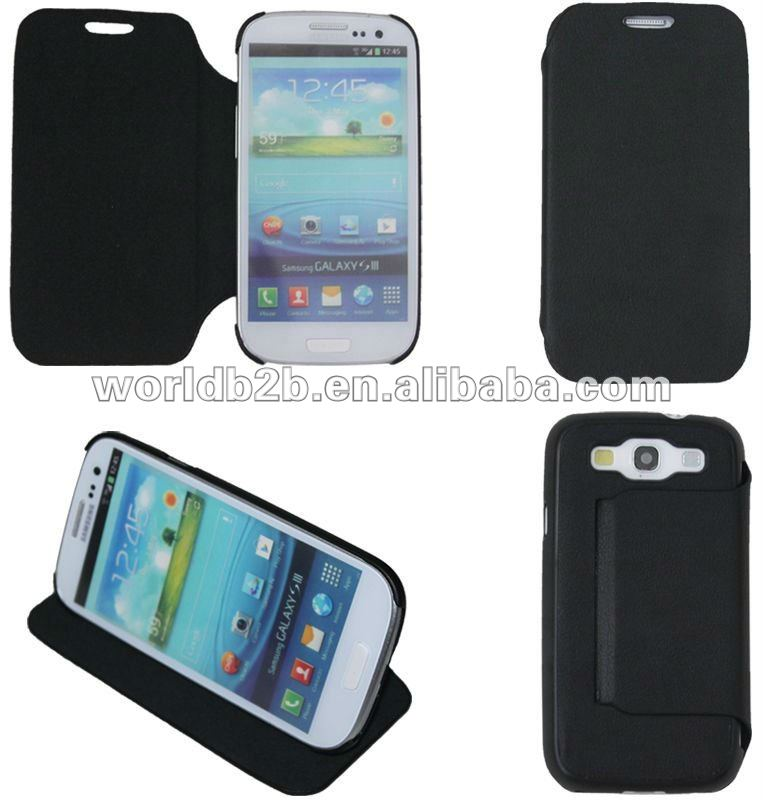 Cute Flip Leather Case Cover for Samsung Galaxy S3 i9300 ,with magic gumming design