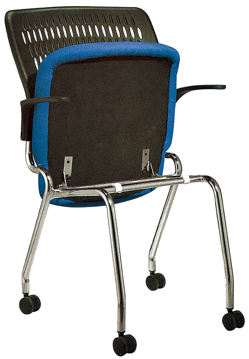 OC-128 Simple Office Chair Foldable and Movable Fabric Chair With Armrest