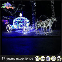 Holiday lighting christmas horse carriage decoration