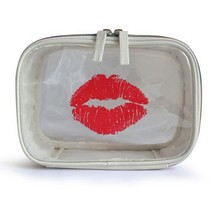 CP0423 Hot Sale Beautiful Lip Shaped Clear Cosmetic Bag