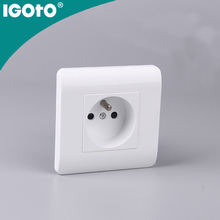 IGOTO U122 European standard 1 gang French socket electric wall switch for home