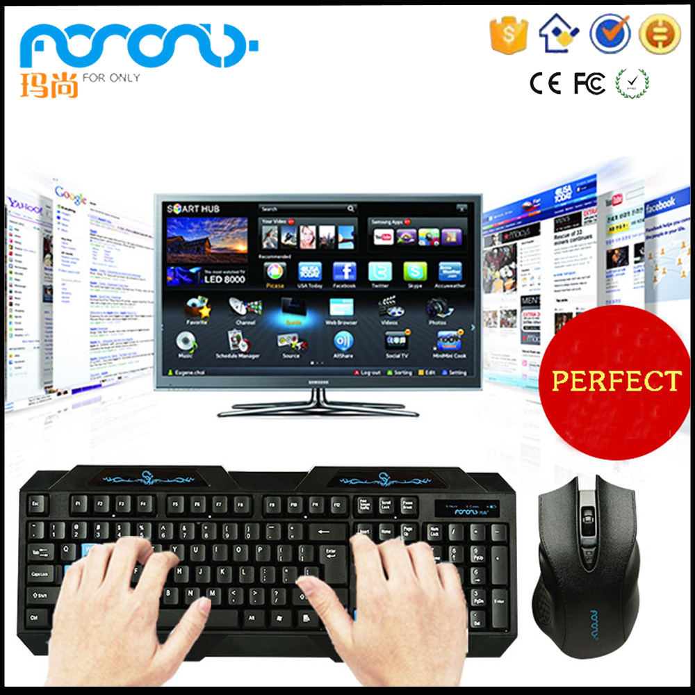 Shenzhen manufacture supply cheap good wireless keyboard and mouse support smart TV