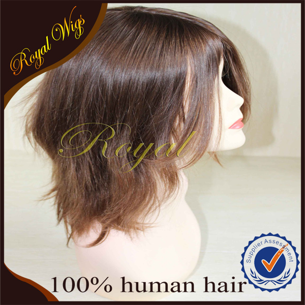 Good Quality Half Hand Tied Wholesale European Kosher Wigs Human Hair, Jewish Wigs