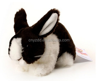 Black & White Rabbit Plush Soft Toy by Zoo Trend. 15cm,black rabbit plush toys