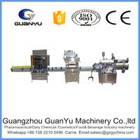 Stainless steel automatic production line for PET bottle water filling,capping and lableing on sales