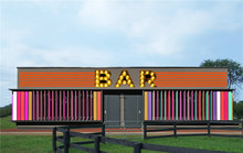 Cheap Container for Transportation design prefab container bar house