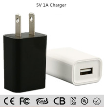 5V 1A EU US Plug Flat USB Wall AC Power Adapter Home Charger Travel Charger