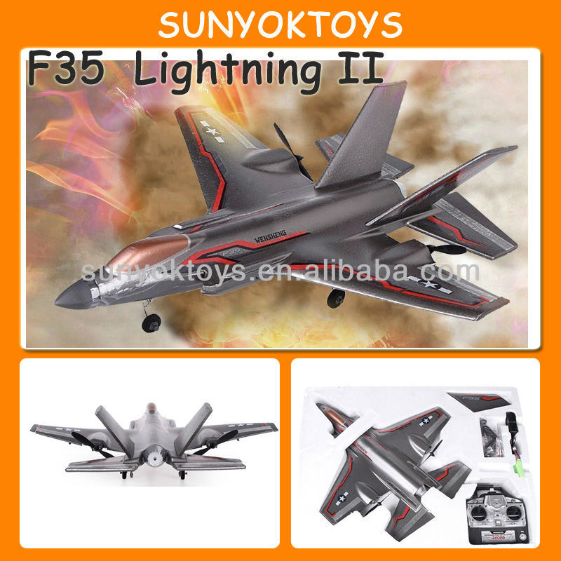 F35 Fighter Jet Model! 2.4G 3CH Rc Airplane Easy To Fly
