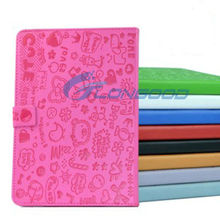 Cute Magic Cartoon Girl Leather Case with 3-angle Viewing Stand for Apple iPad mini