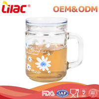wholesale cheap price Handmade Borosilicate Heat Resistant water tea glass cup