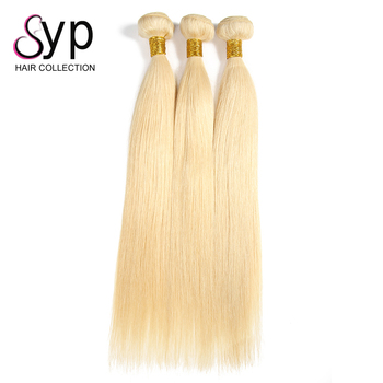 Double Drawn Cuticle Aligned Straight Remy 100% Natural Indian Human Hair Weave Color 613 Price List