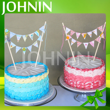 Eco-friendly Wedding or Birthday Party Decoration No MOQ Cake Topper Bunting