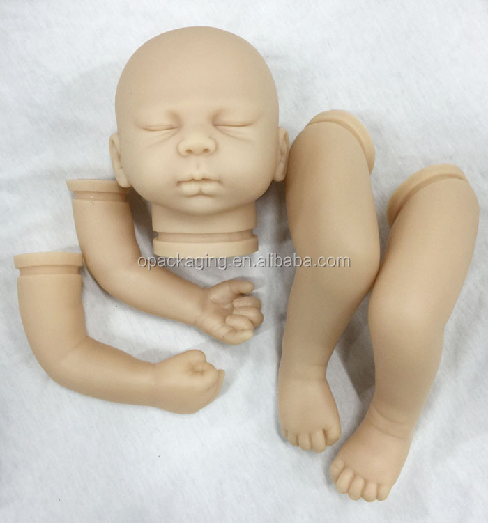 "Reborn Doll Kits Soft Vinyl Head 3/4 Limbs For Making 20-22"" Newborn Baby Dolls DK90"