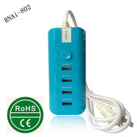 socket adapter,mini travel phone socket,ac socket with 4 port family-sized desktop usb charger