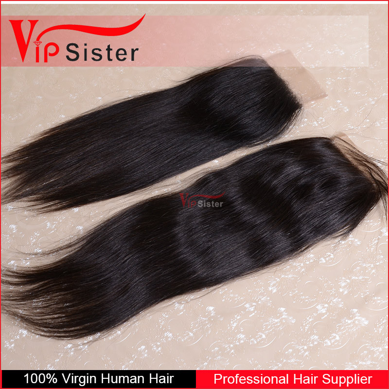Factory wholesale price bleached knots top quality body wave peruvian human hair lace closure