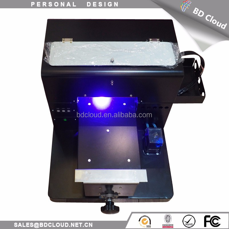 A4 digital flatbed uv printing multicolor dtg ceramic printer