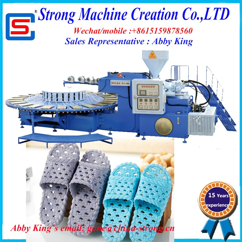 PVC,PCU slipper injection moulding machine with 24 stations and single color