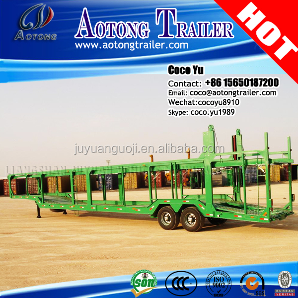 Duel-axle Towing trailer for car carrying trailer on sale